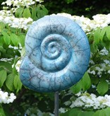 Handgetöpferter Keramik- Ammonit