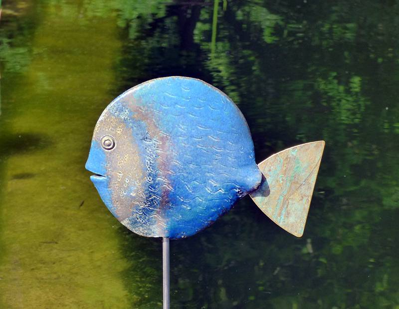 Handgetöpferter Keramik- Plattfisch