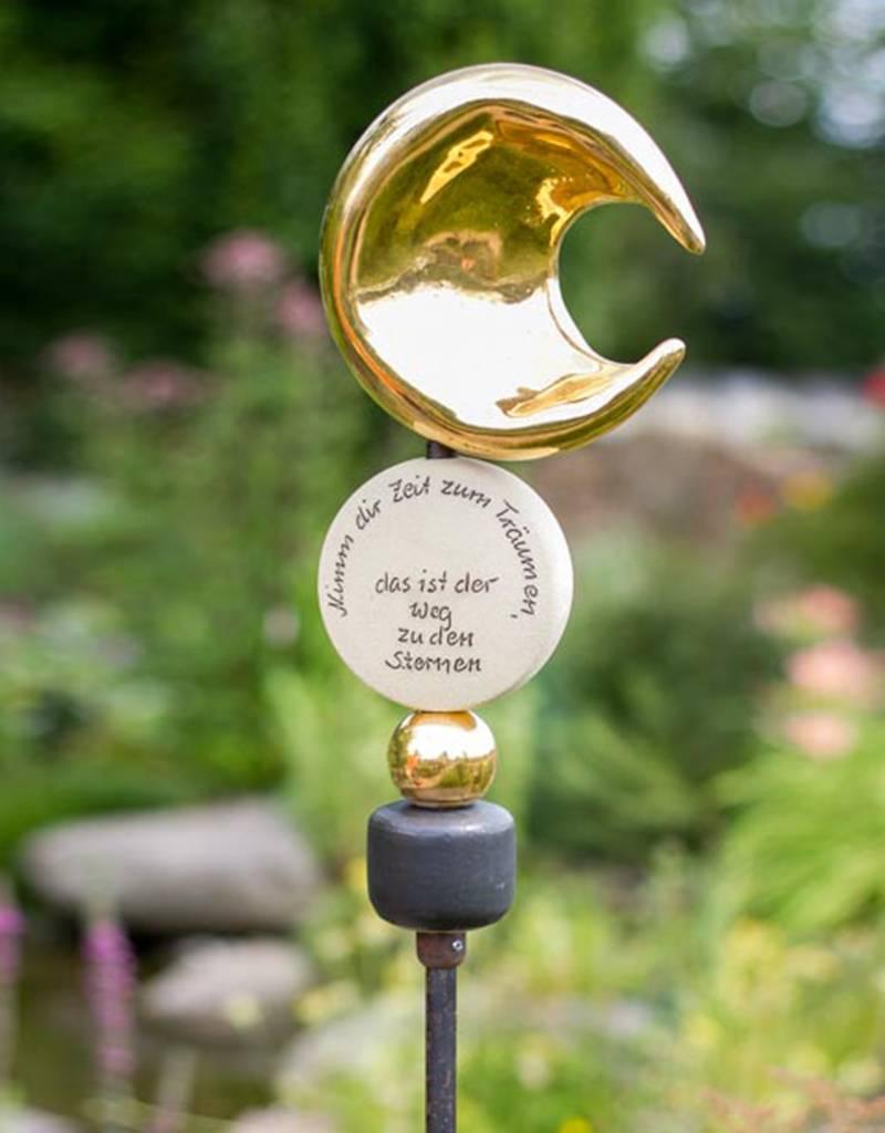 """Stele Zeit zum Träumen """"Mond gold"""""""
