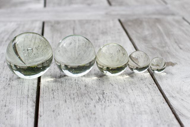 Glaskugeln klar