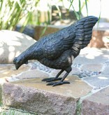 Huhn, pickend aus Bronze