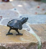 Küken, laufend aus Bronze