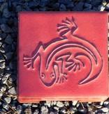 Motiv Pflasterstein Eidechse in rot, absolut frostfest