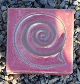Motiv Pflasterstein Schnecke in rosa