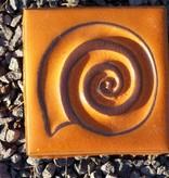Motiv Pflasterstein Schnecke in mandarin