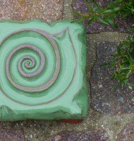 Motiv Pflasterstein Schnecke in grasgrün