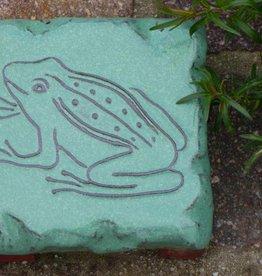Motiv Pflasterstein Frosch in mint