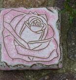 Motiv Pflasterstein Rose in zartrose