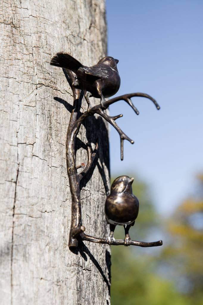 2 Vögel auf Ast - Wandhänger