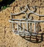 Wandkorb aus antik grauem Metall