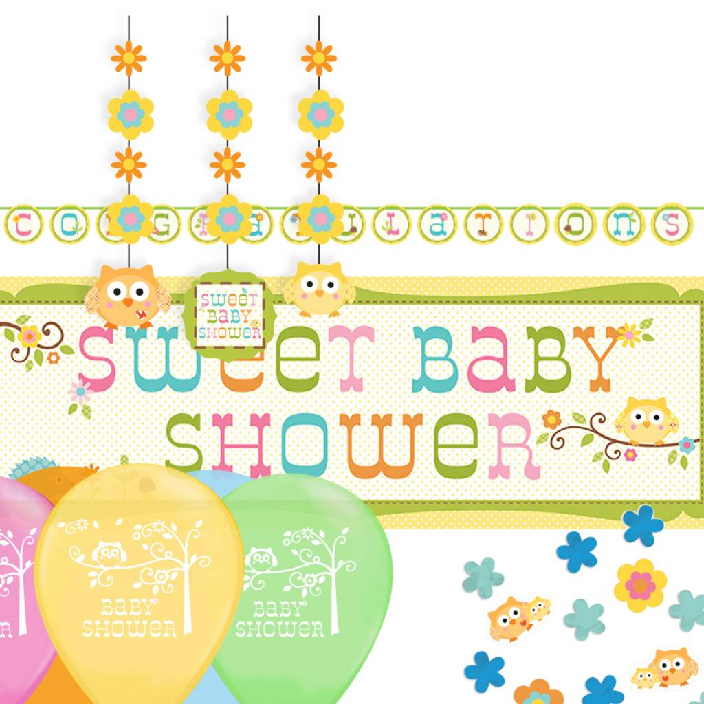 Baby Shower feestpakket Uni Sweet Baby