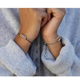 Love Ibiza Love Ibiza Fine bracelets 'black & Lt.grey'
