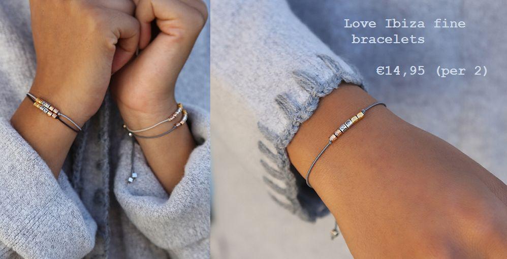 Love Ibiza Fine bracelets 'black & Lt.grey'
