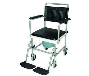 Rollstuhl-WC auf Rädern mit Fußstützen Antrieb
