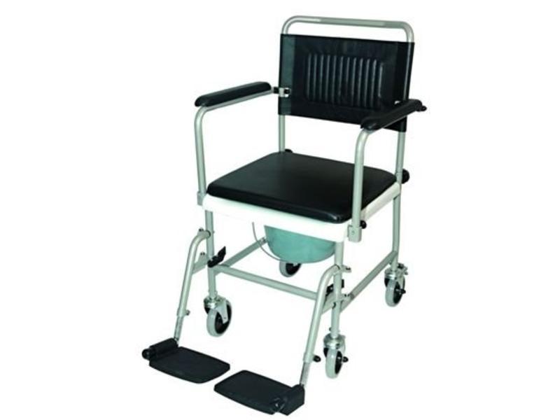 wc fauteuil roulant sur des roues avec repose pieds entra nement stockx medical. Black Bedroom Furniture Sets. Home Design Ideas