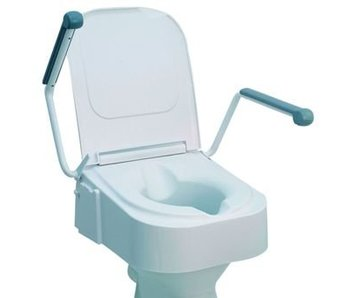 Toilettensitz mit klappbarer Armlehne, höhenverstellbar
