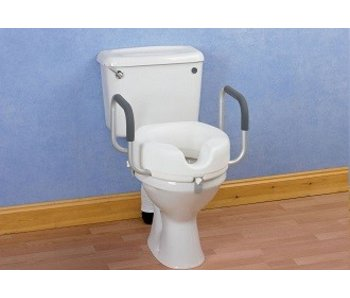 Toilet cushion with handles