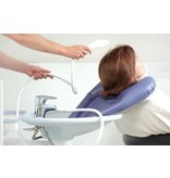 Inflatable hair wash basin for use at the sink Adhome