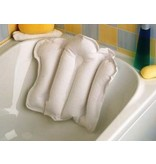 Inflatable bath pillow with terry lining