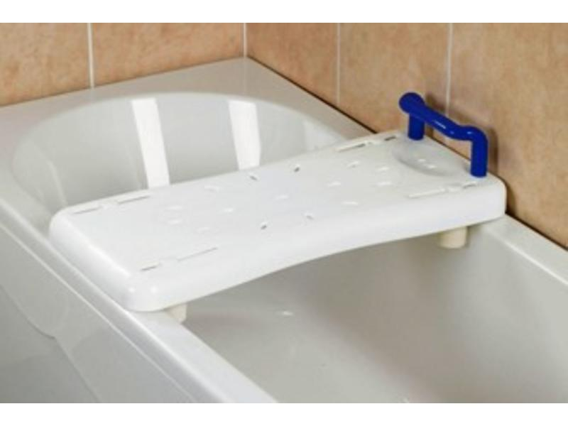 Bath board with blue handle