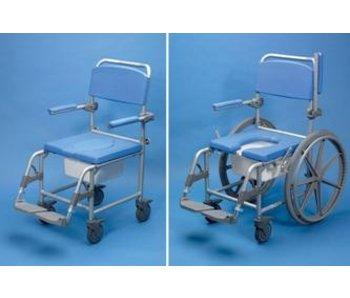 Dusche / WC Stuhl mit Rädern Deluxe Days, Aluminium
