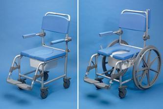 dusche wc stuhl mit r dern deluxe days aluminium stockx medical. Black Bedroom Furniture Sets. Home Design Ideas