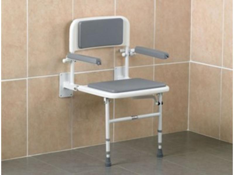 Days shower seat for wall mount and floor support - Stockx Medical