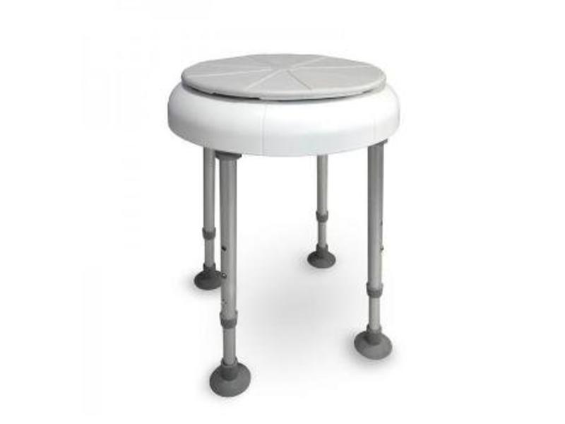 Shower chair with rotating seat round Delphi - Stockx Medical