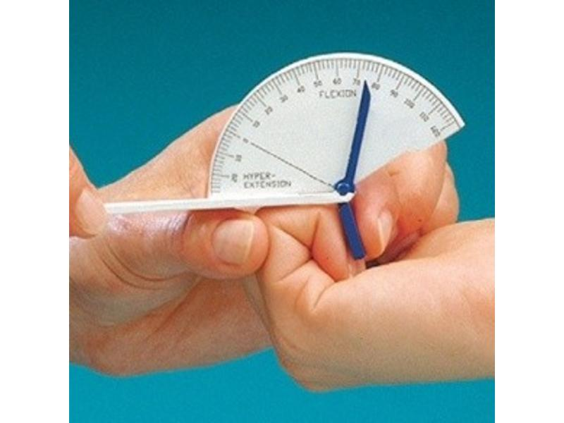 Flexion hyperextension finger goniometer large