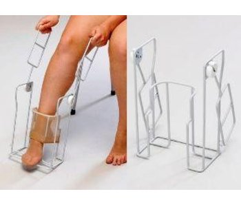 Stockings attractor for compression stockings on framework
