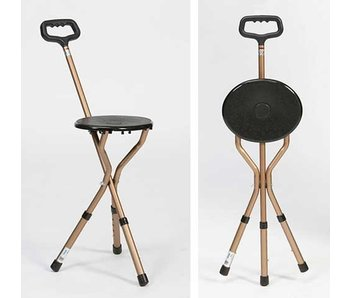 Lightweight aluminum cane chair