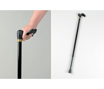 Walking stick with wide handles Palm Grip