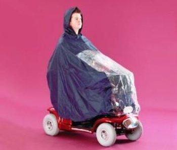 Scooterponcho Cape met volledige bescherming van rijder en scooter