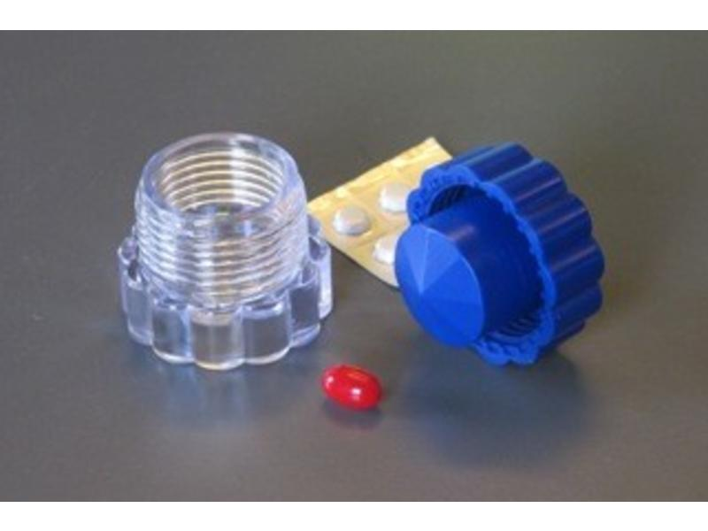 Compact pillen smasher mit lagerung