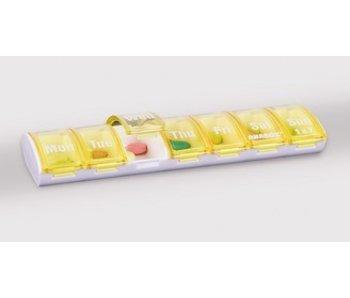 Pillbox Anabox für eine Woche, ein Fach pro Tag