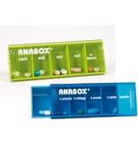 Pillbox Anabox für einen Tag fünf Boxen