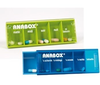 Pillbox Anabox for one day five boxes