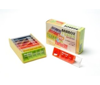 Children Pillbox Anabox for 1 week, 5 compartments per day