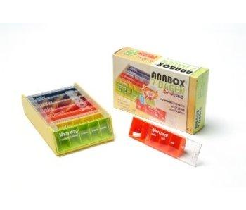 Kinderpillendoos Anabox voor 1 week, 5 compartimenten per dag