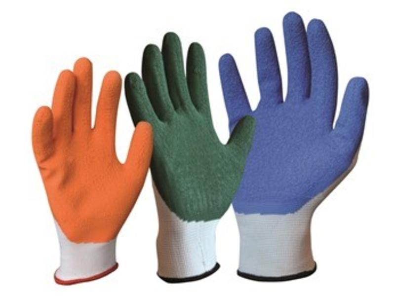 Arion gloves with non-slip coating for dressing aid for stockings