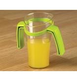 Geneigten Nase Tasse mit zwei Henkeln