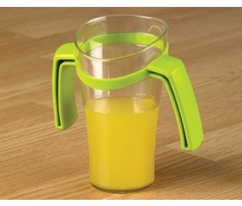 Sloping nose cup with two handles