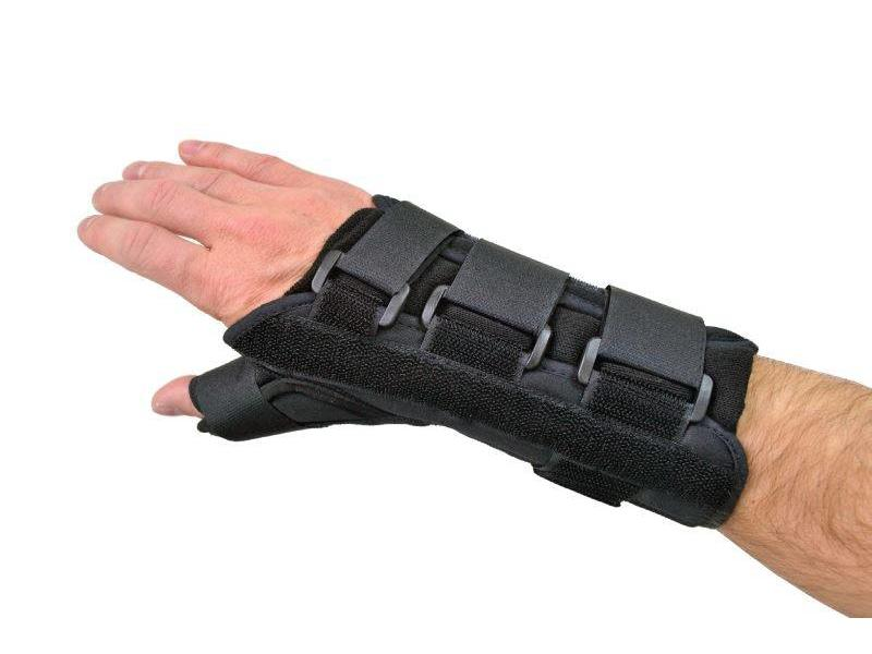 Comfort wrist and thumb brace black