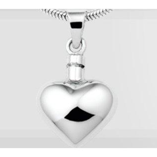 Zilveren Herinneringssieraad - hartvorm