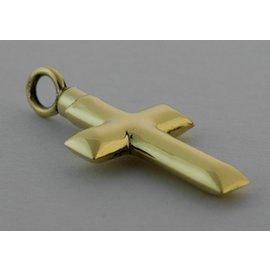 Gouden Herinneringssieraad - Kruis strak model