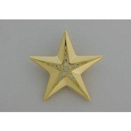 Gouden Herinneringssieraad - Ster groot met diamantjes