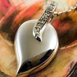 Zilveren Ashanger Hart traan met zirkonia's
