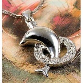Zilveren assieraad - Dolfijn - met zirkonia cirkel