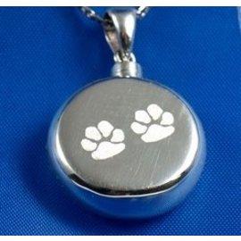 Zilveren ashanger - Rondom hondenpootjes