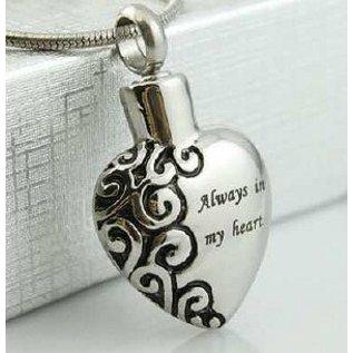 RVS ashartje - met de woorden - Always in my heart